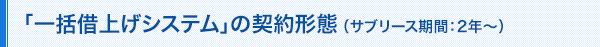 「一括借上げシステム」の契約形態 (サブリース期間:2年~)